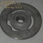 452604006,Flangia motore, GS400, 2,375Kg, grezza